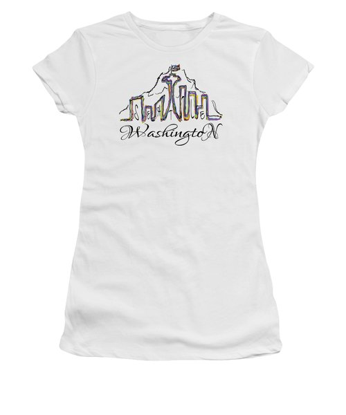 Seattle Women's T-Shirt (Junior Cut) by Devon LeBoutillier