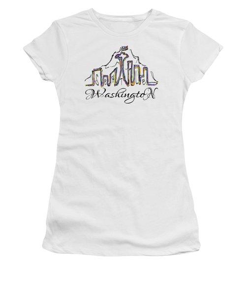 Seattle Women's T-Shirt (Junior Cut) by Devon LeBoutillier