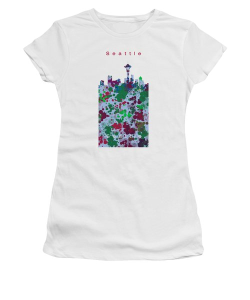 Seattle Skyline .3 Women's T-Shirt