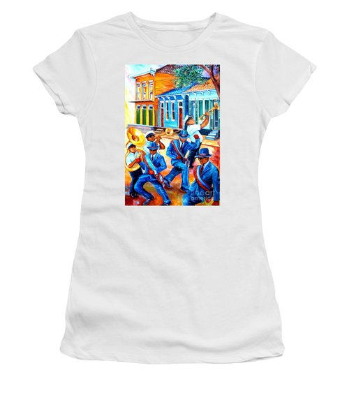 Second Line In Treme Women's T-Shirt (Athletic Fit)