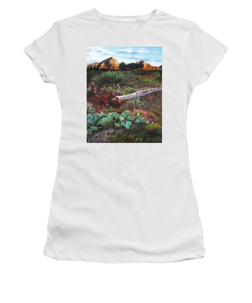 Sedona Mountain Sunrise Women's T-Shirt (Athletic Fit)