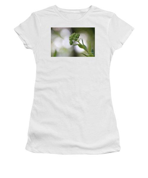 Sedum Buds At Late Evening Women's T-Shirt (Junior Cut) by Marilyn Carlyle Greiner