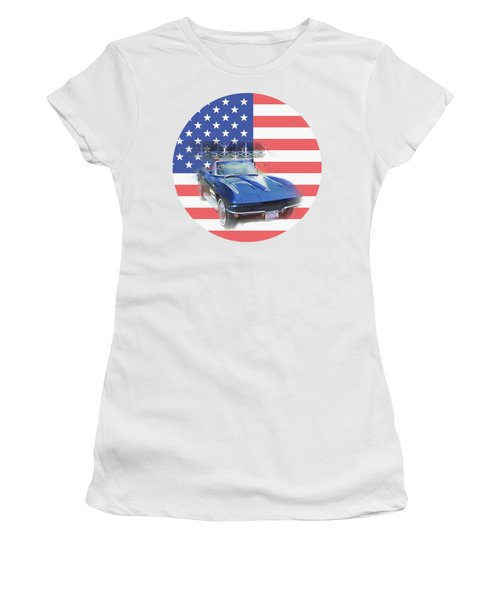 Women's T-Shirt featuring the photograph See The Usa by Judy Hall-Folde