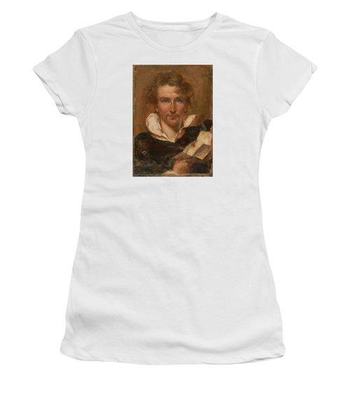 Self Portrait Women's T-Shirt (Junior Cut) by William Etty