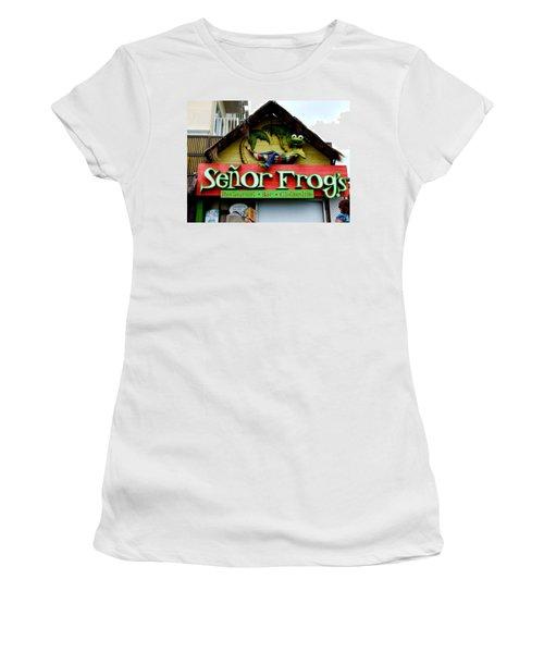 Senor Frogs Women's T-Shirt (Athletic Fit)