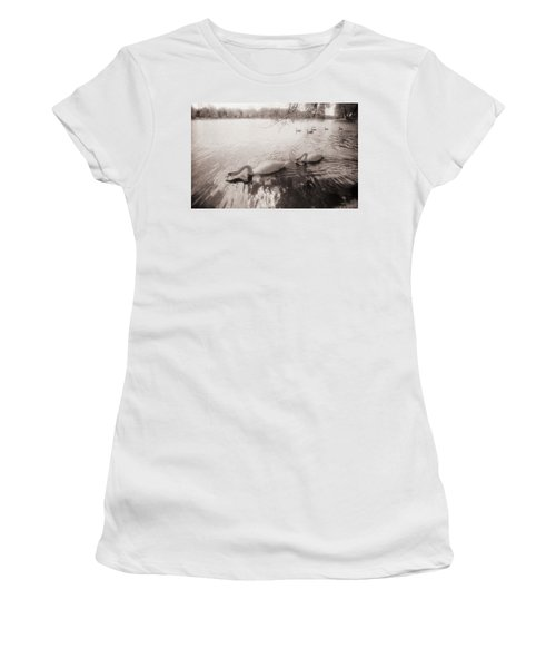 Sepia Swans Women's T-Shirt