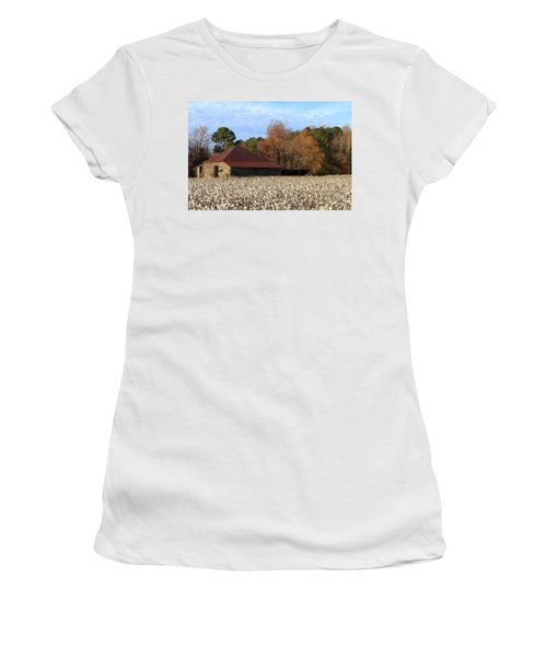 Shack In The Field Women's T-Shirt (Athletic Fit)