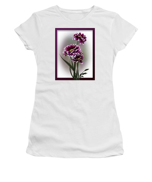 Shades Of Purple Women's T-Shirt (Junior Cut) by Judy Johnson