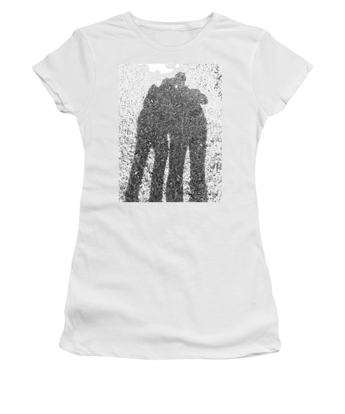 Shadow In The Meadow Bw Women's T-Shirt