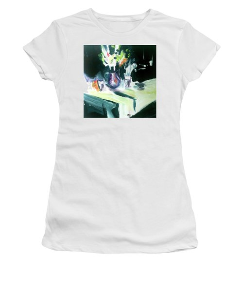 Women's T-Shirt featuring the painting Shadow Stillness by John Jr Gholson