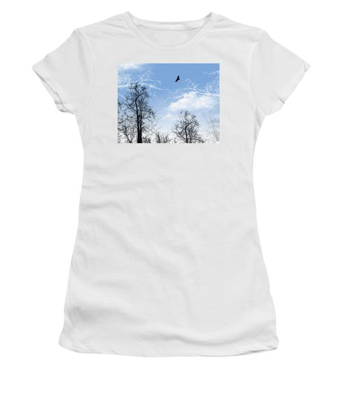 Women's T-Shirt (Junior Cut) featuring the painting Shadow by Trilby Cole