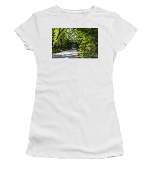 Shady Lane In Ocklawaha Women's T-Shirt (Junior Cut) by Deborah Smolinske