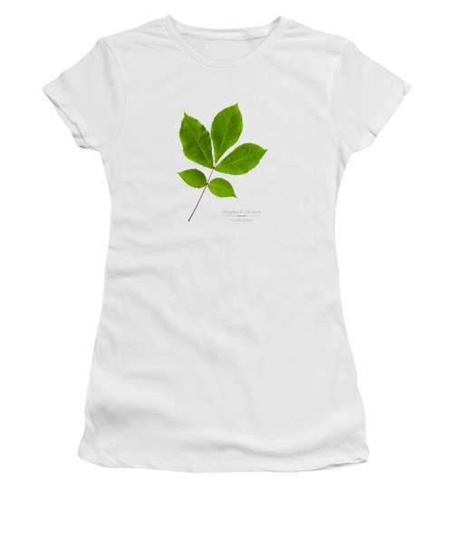 Women's T-Shirt (Junior Cut) featuring the photograph Shagbark Hickory by Christina Rollo