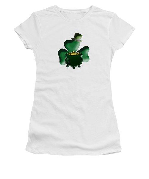 Shamrock And Pot Of Gold Women's T-Shirt