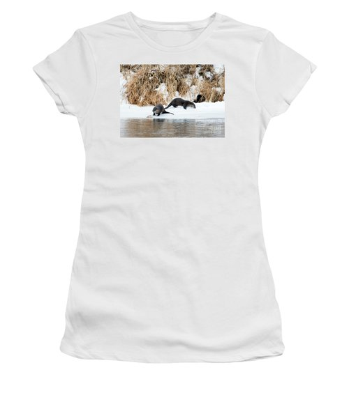 Sharing A Meal Women's T-Shirt (Junior Cut) by Mike Dawson