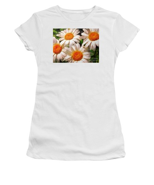 Shasta Daisies 2015 Women's T-Shirt (Athletic Fit)