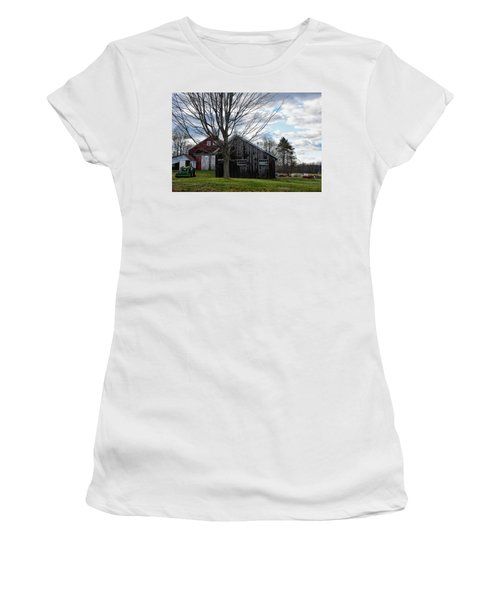 Shaw Hill Farm Women's T-Shirt (Junior Cut) by Tricia Marchlik