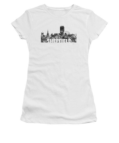 Sheffield England Skyline Women's T-Shirt (Athletic Fit)