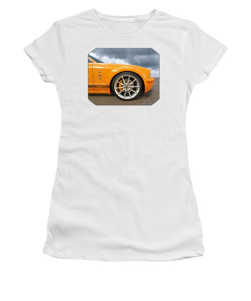 Shelby Gt500 Wheel Women's T-Shirt (Junior Cut) by Gill Billington