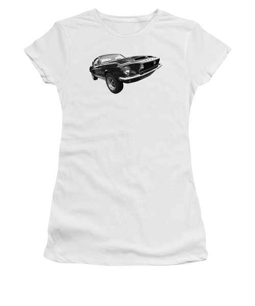 Shelby Gt500kr 1968 In Black And White Women's T-Shirt