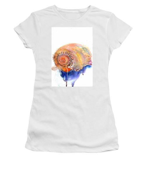 Women's T-Shirt featuring the painting Shell Nose by Ashley Kujan