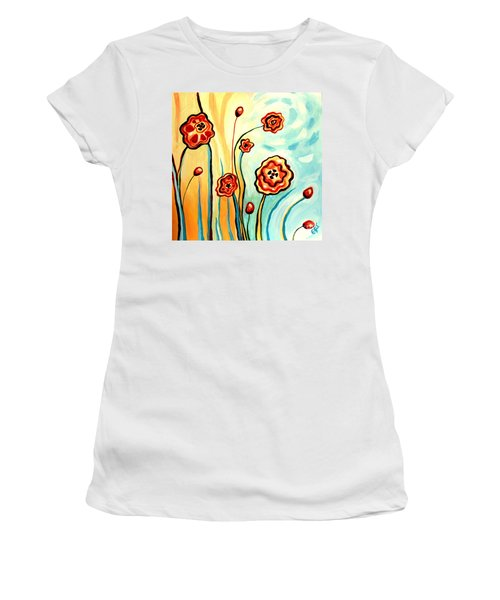 Sherbert And Powder Blue Skies Women's T-Shirt