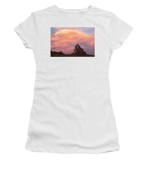 Shiprock At Sunset Women's T-Shirt