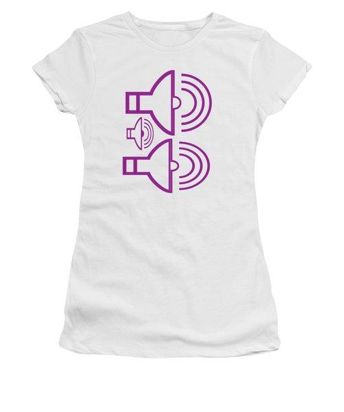 Shirts And Pod Gifts Graphic Siren Horn Alarm Purple Artist Navinjoshi Fineartamerica Pixels  Women's T-Shirt