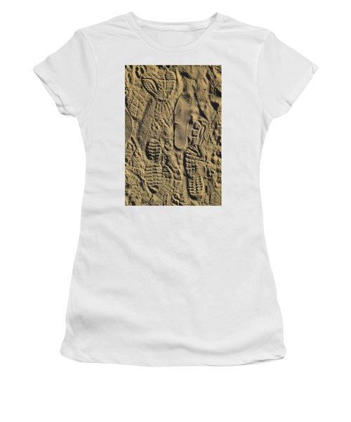 Shoe Prints II Women's T-Shirt (Athletic Fit)