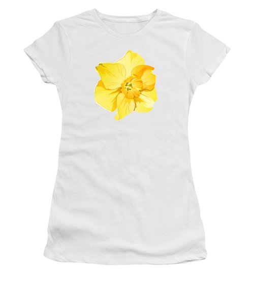 Short Trumpet Daffodil In Yellow Women's T-Shirt (Junior Cut) by MM Anderson