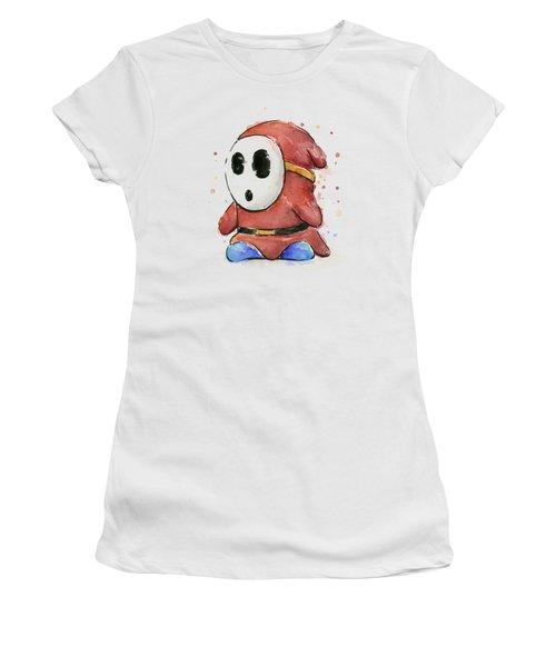 Shy Guy Watercolor Women's T-Shirt