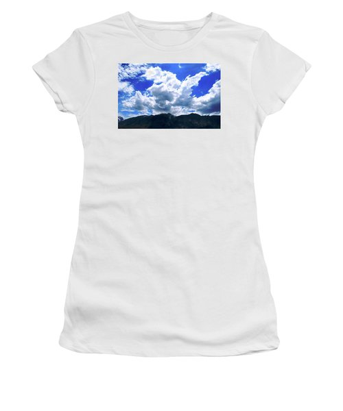 Sierra Nevada Cloudscape Women's T-Shirt (Junior Cut) by Matt Harang