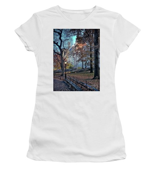 Women's T-Shirt (Junior Cut) featuring the photograph Sights In New York City - Central Park by Walt Foegelle