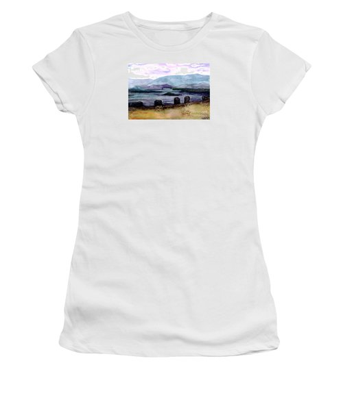 Women's T-Shirt (Junior Cut) featuring the painting Silent Sentinels by Patricia Griffin Brett