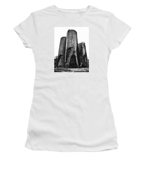 Women's T-Shirt (Junior Cut) featuring the photograph Silos by Tamera James
