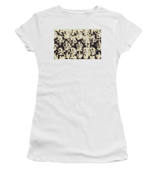 Silver Skull Art Women's T-Shirt