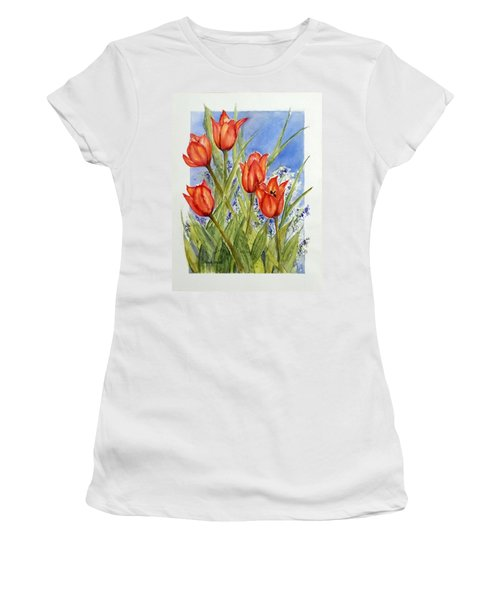 Simply Tulips Women's T-Shirt (Athletic Fit)