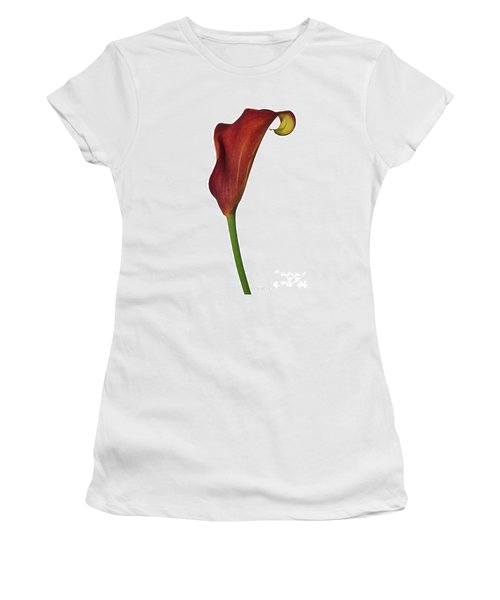 Single Rust Calla Lily Stem Women's T-Shirt (Athletic Fit)
