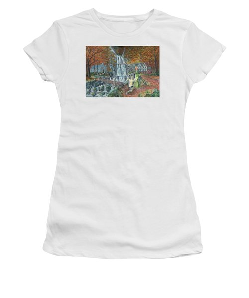 Sir Galahad Becomes Queen's Champion Women's T-Shirt (Junior Cut) by Anthony Lyon