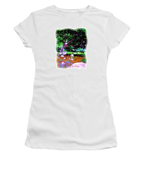 Women's T-Shirt (Junior Cut) featuring the painting Sitting In The Shade by Patricia Griffin Brett