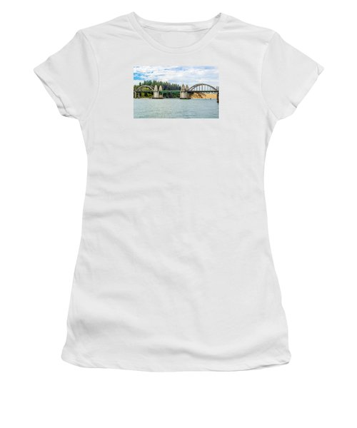 Siuslaw River Draw Bridge  Women's T-Shirt (Junior Cut) by Dennis Bucklin