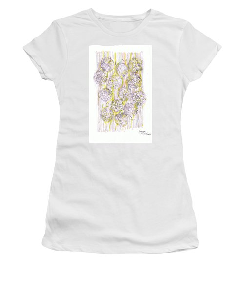 Size Exclusion Chromatography Women's T-Shirt (Junior Cut) by Regina Valluzzi