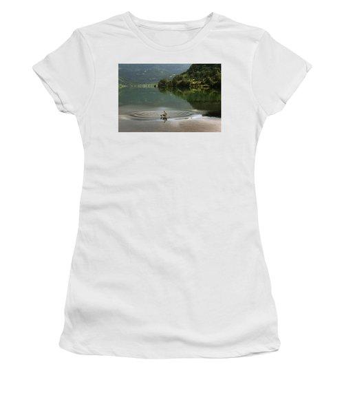 Skc 3996 At The Edge Of A Circle Women's T-Shirt (Junior Cut) by Sunil Kapadia