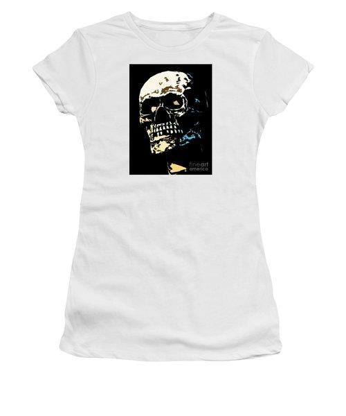 Skull Against A Dark Background Women's T-Shirt
