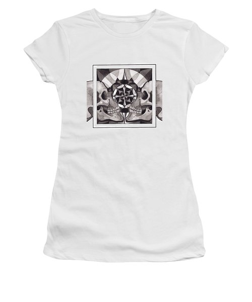 Skull Mandala Series Nr 1 Women's T-Shirt (Athletic Fit)