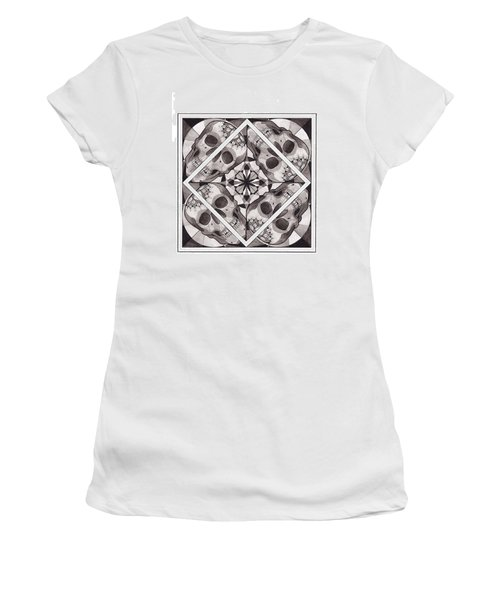Skull Mandala Series Number Two Women's T-Shirt (Athletic Fit)