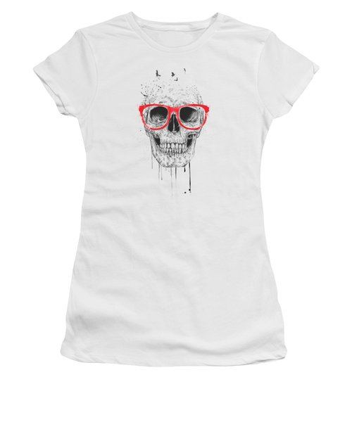 Skull With Red Glasses Women's T-Shirt