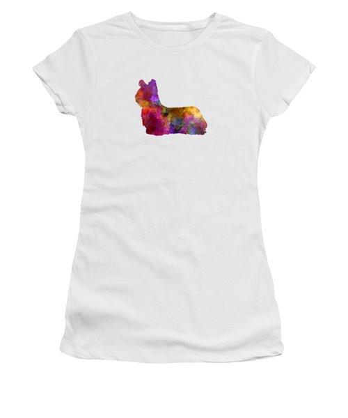 Sky Terrier 01 In Watercolor Women's T-Shirt