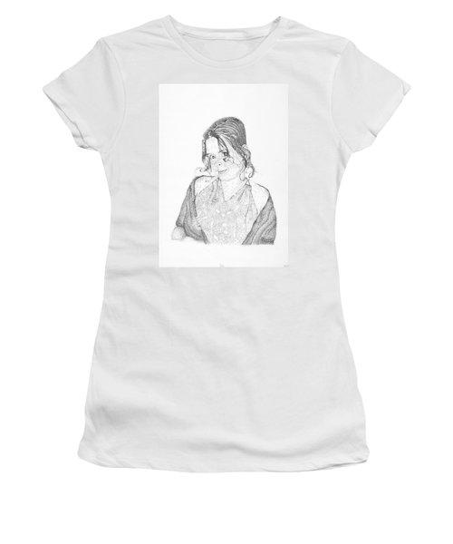 Women's T-Shirt (Junior Cut) featuring the drawing Skye by Mayhem Mediums
