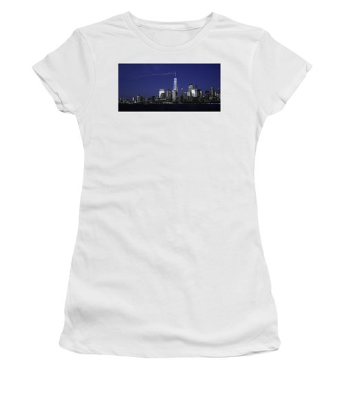 Skyline At Night  Women's T-Shirt (Athletic Fit)